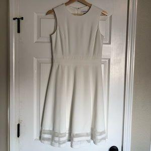 Calvin Klein White Sleeveless Dress